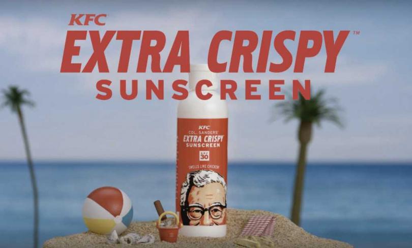 炸雞防曬乳。圖片來源:KFC