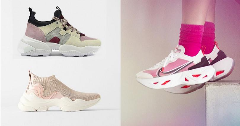 學左圖穿透視鞋加上粉色襪,用襪子創造穿搭趣味。(圖/品牌提供)