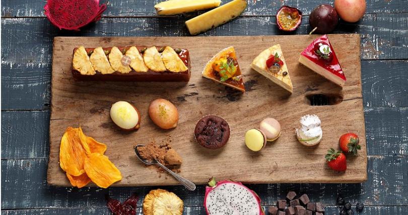 台北福華大飯店推出的屏東小農特產系列手工甜點。(圖/台北福華大飯店提供)