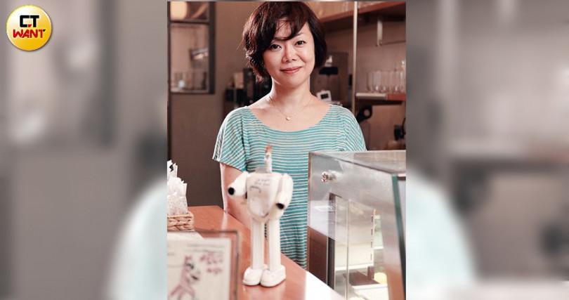 老闆田中緣希望能把蛋糕的美好傳達給所有台灣人。(圖/于魯光攝)