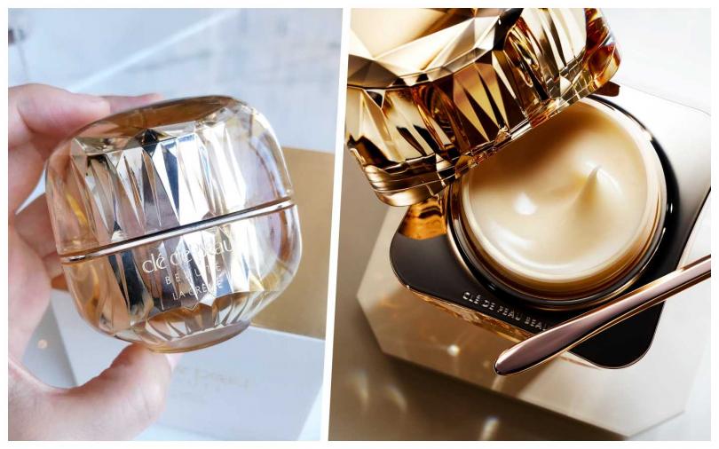 肌膚之鑰精質乳霜具有最高效能的獨家珠寶級成分-光采智能複合物、酵母修護活萃CeraFerment,使肌膚澎彈緊緻。再透過每滴耗時6年淬鍊的鳶尾花精華。(圖/黃筱婷攝影、品牌提供)