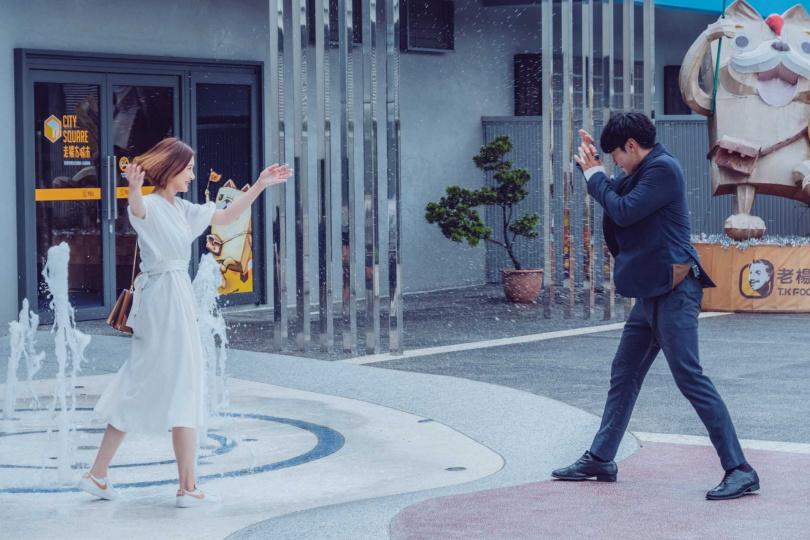 安心亞、宋柏緯劇中甜蜜約會、親吻。(圖/歐銻銻娛樂提供)