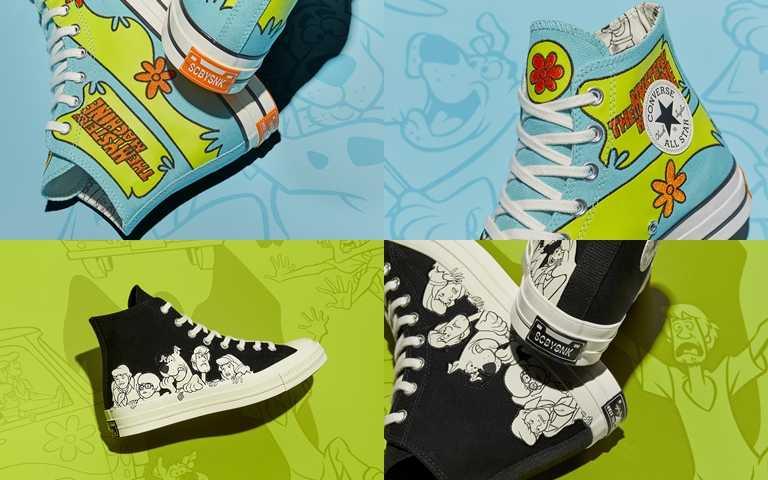 Converse x Scooby-Doo系列Chuck 70s藍色高筒售價為NT3,480;黑色高筒售價為NT3,280。(圖/Converse)