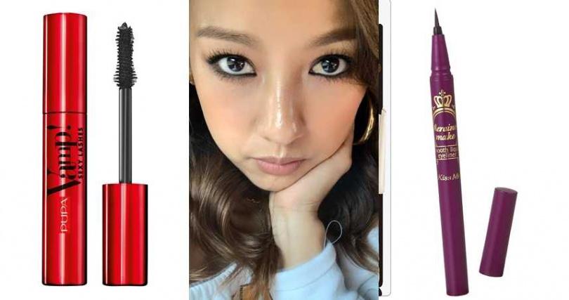 PUPA超激翹性感睫毛膏 12ml/750元、KISSME華爾茲淚眼防水眼線液筆 #01 4ml/350元(圖/翻攝網路、品牌提供)