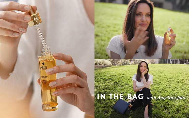 圖1/安潔莉娜裘莉包包內會唯一隨身攜帶的保養品就是「皇家蜂王乳平衡油」!(圖/翻攝網路、IG@miss_independent_boutique)