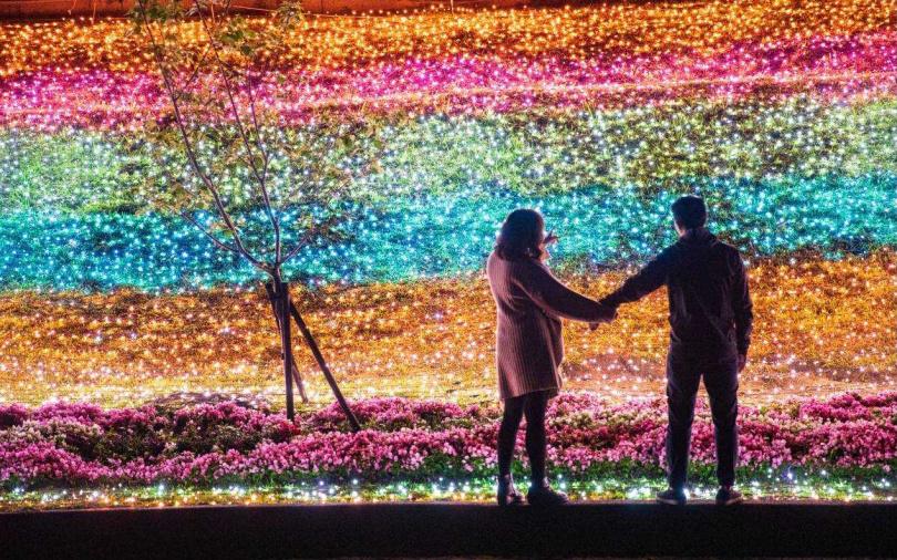 星光草皮為現場增添浪漫氛圍。(圖/新北市觀旅局提供)