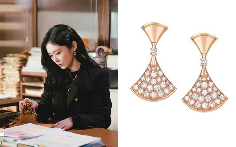 BVGLARI DIVAS' DREAM玫瑰金鑽石耳環/約229,700元(圖/翻攝網路、品牌提供)