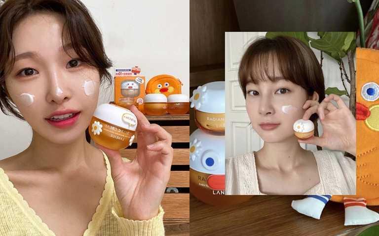 去年在韓國搶先發售的聯名組合因為銷量太好,就算有錢想找代購也買不到XDDD。(圖/IG@a_arang_、IG@j______euna)