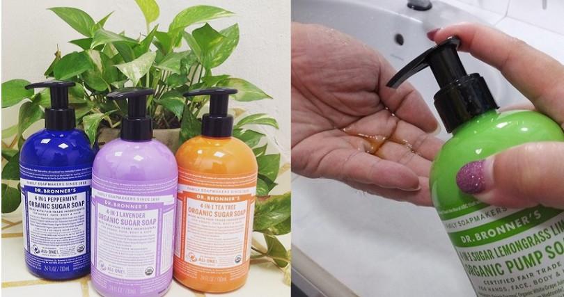 顏色呈現淡淡焦糖色的4-IN-1沐浴露,使用的是通過美國農業食品等級檢驗合可的有機蔗糖,就算不小心吃到也沒關係。(圖/翻攝網路)