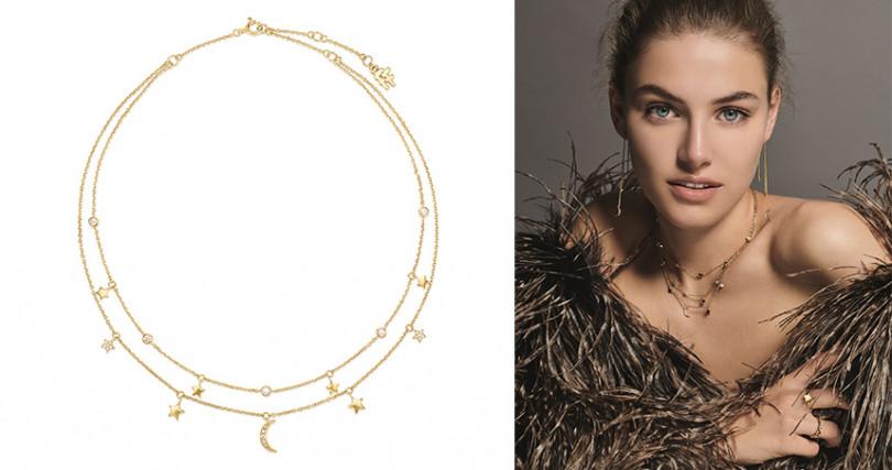 Wishing On輕珠寶系列雙層設計項鍊NT$4,290(圖/Folli Follie提供)