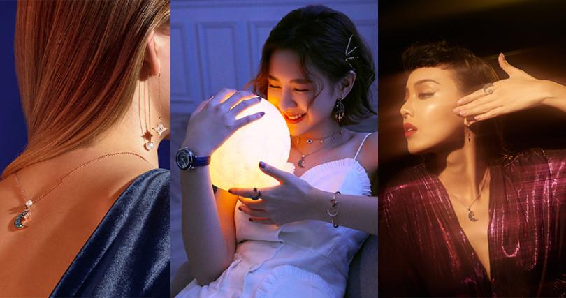 品牌好友安心亞、李函,也在近期配戴最新冬季系列,散發不同於以往的時尚女神風範。(圖/SWAROVSKI提供)