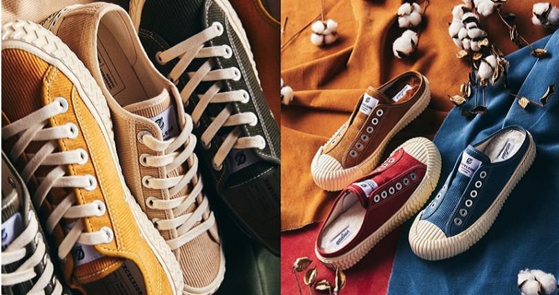 燈芯絨鞋NT3,280、燈芯絨內增高鞋NT2,880、燈芯絨穆勒鞋NT2,880(圖/EXCELSIOR)