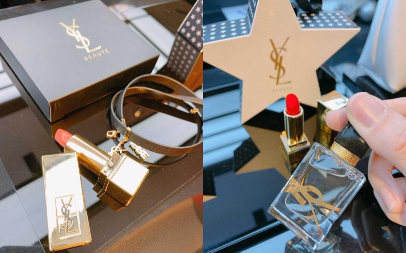 裏頭有精品手環跟這瓶香水的不同金額滿額禮,都很吸引人。(圖/吳雅鈴攝影)