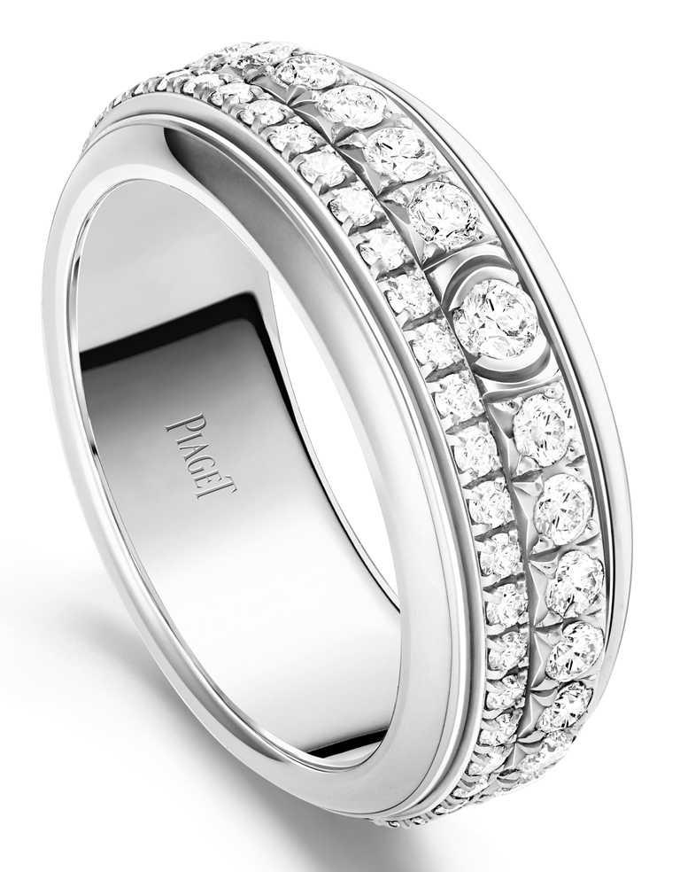 PIAGET「Possession系列」18K白金鑽石戒環╱321,000元。(圖╱PIAGET提供)