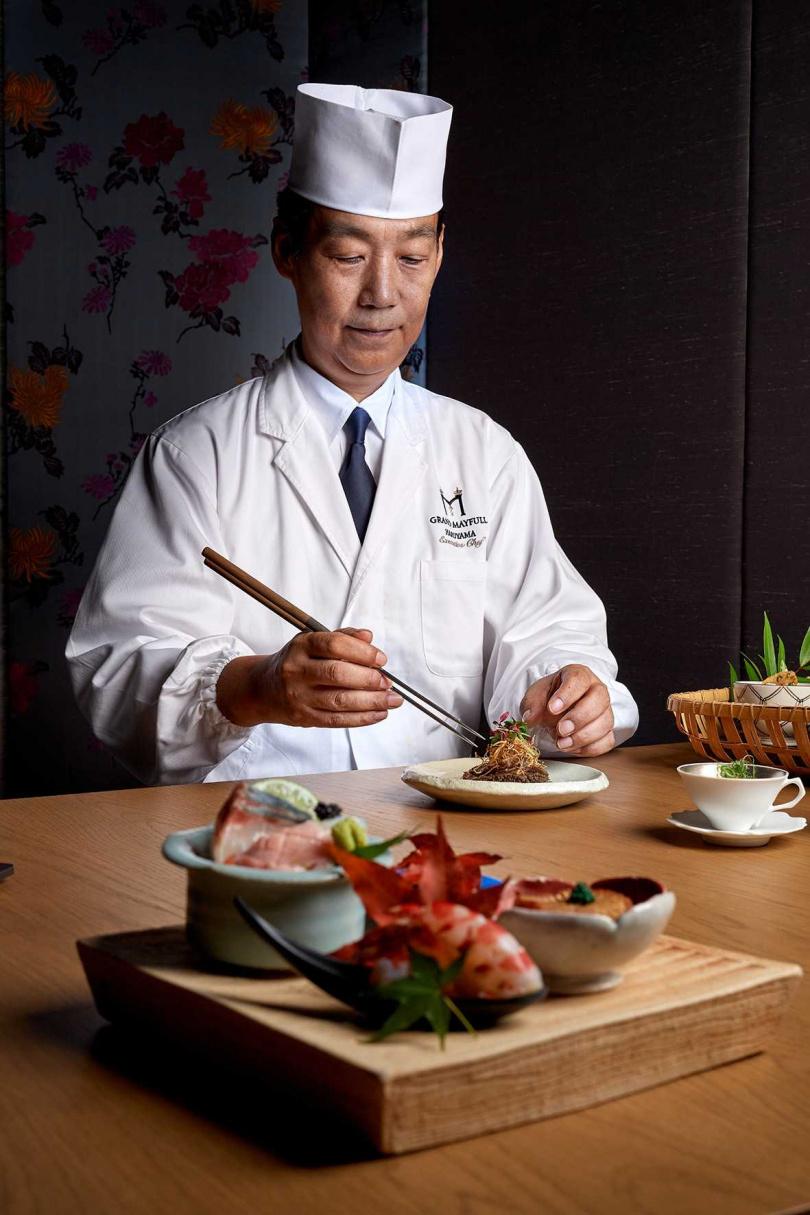 晴山日本料理料理長湯本誠。(圖/台北美福大飯店提供)