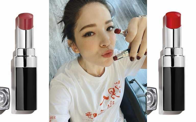 CHANEL COCO星綻唇膏 #114 3g/1,350元、CHANEL COCO星綻唇膏 #138 3g/1,350元(圖/翻攝許瑋甯IG、品牌提供)