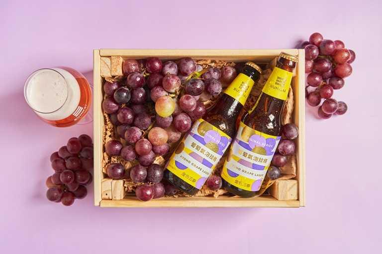 釀製過程耗時8個月,金色三麥推出全台首支使用在地葡萄精釀的啤酒。(酒後不開車,未滿18歲請勿飲酒)