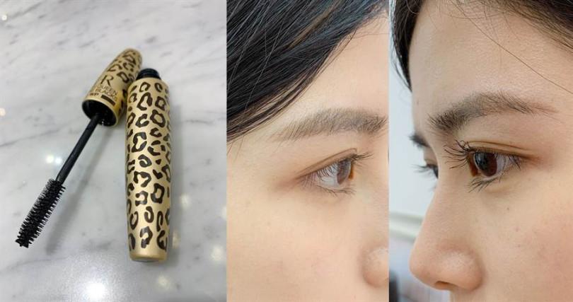 HR獵豹濃密纖長防水睫毛膏 7.2g/1,450元  兩眼比一比就知道效果差多少。(圖/吳雅鈴攝影)