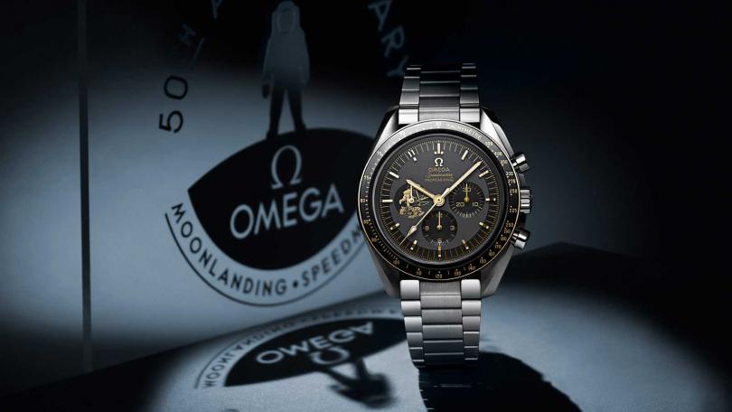 OMEGA「Speedmaster超霸」系列,阿波羅11號50周年紀念腕錶。
