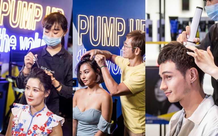 陳艾熙、julia、Marco都到現場做檢測!平時也都用Hair by Rituel保養頭皮頭髮唷!(圖/品牌提供)