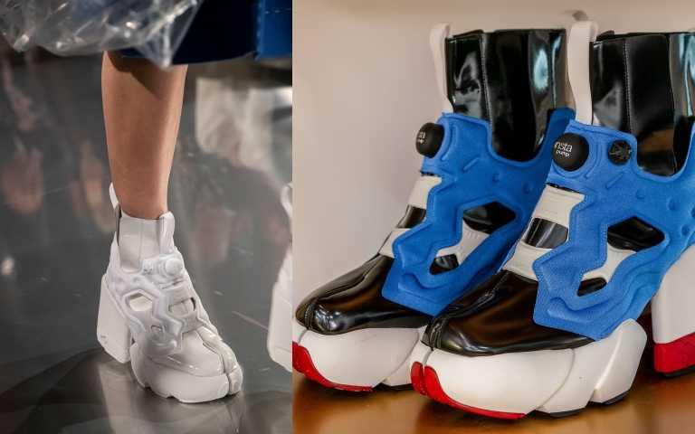 Maison_Margiela_x_Reebok聯名高跟球鞋52,980元,本月底在 onefifteen 初衣食午全新上市,並於 9 月 11 至 9 月 22 日在 onefifteen 初衣食午 BELLAVITA 店搶先開放預購(圖/品牌提供)