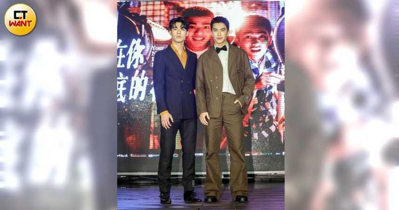 《刻在你心底的名字》陳昊森(左)、曾敬驊出席電影首映會。