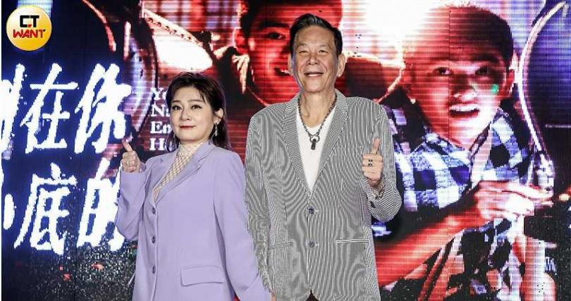 《刻在你心底的名字》王彩樺(左)、龍劭華出席電影首映會。