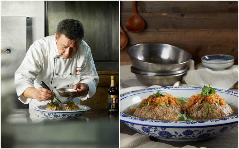 阿發師認為「古早味肝炖」是最能表現他多年廚藝人生的料理。(圖/李錦記提供)