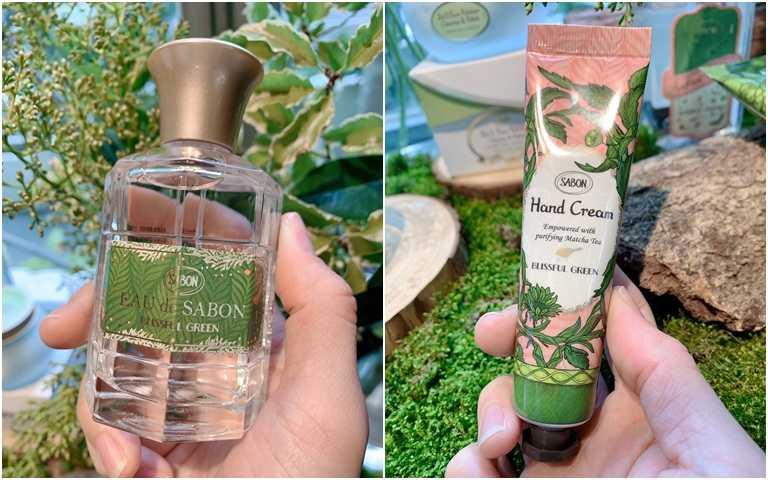 SABON綠意叢林宣言香水 80ml/2,180元、SABON綠意叢林護手霜 30ml/380元。(圖/吳雅鈴攝影)