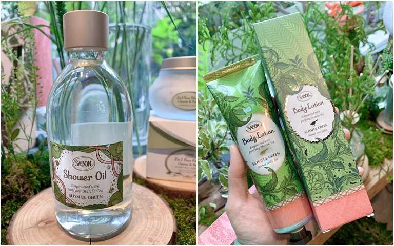 SABON綠意叢林沐浴油 30ml/980元、SABON綠意叢林身體乳液 150ml/1,180元。(圖/吳雅鈴攝影)