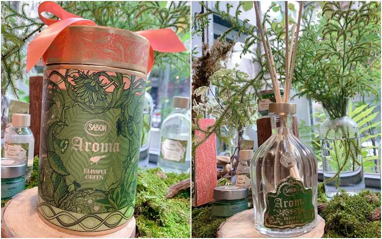 SABON綠意叢林薰香組 450ml/3,280元  超大ml數的薰香,可以放幾個月都沒問題!(圖/吳雅鈴攝影)