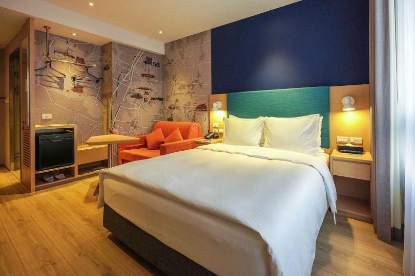 一大床房可加價、加床成為3人房,方便親子客群入住。(圖/焦正德攝)