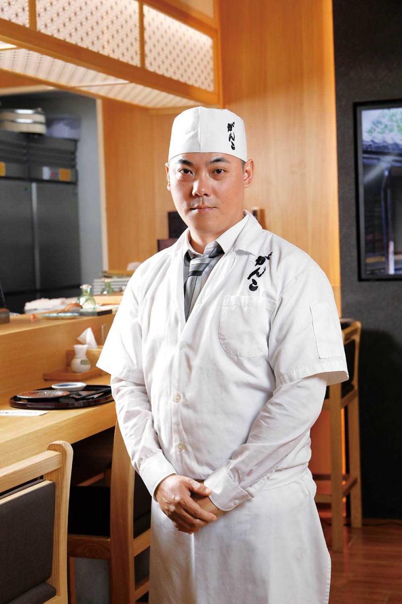首推板前套餐的新店民權店,由熟稔各式海鮮食材的阿修主廚坐鎮。(圖/于魯光攝)