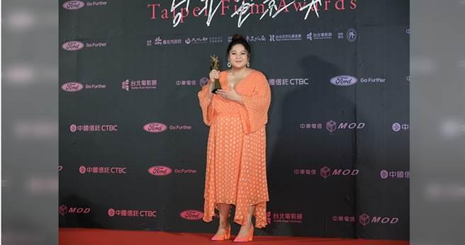 蔡嘉茵表示開心獲得北影最佳新人獎,感謝在天上的父母親。