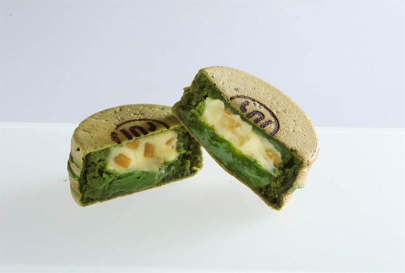 柚子抹茶卡斯達大判燒,48元。