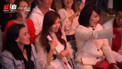 志玲姊姊坐在台下觀賞放浪兄弟演出,以行動力挺老公。(圖/台視提供)