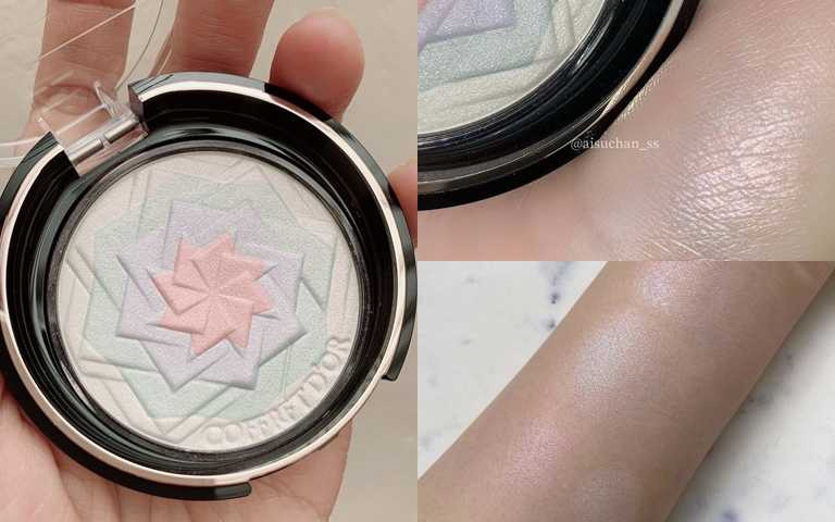 日本女生最喜歡的#EX01清透粉彩,因為有著淡淡透明感,想把它拿來當成全臉的定妝蜜粉也沒問題。(圖/吳雅鈴攝、G@aischan_ss、IG@aoihamada )