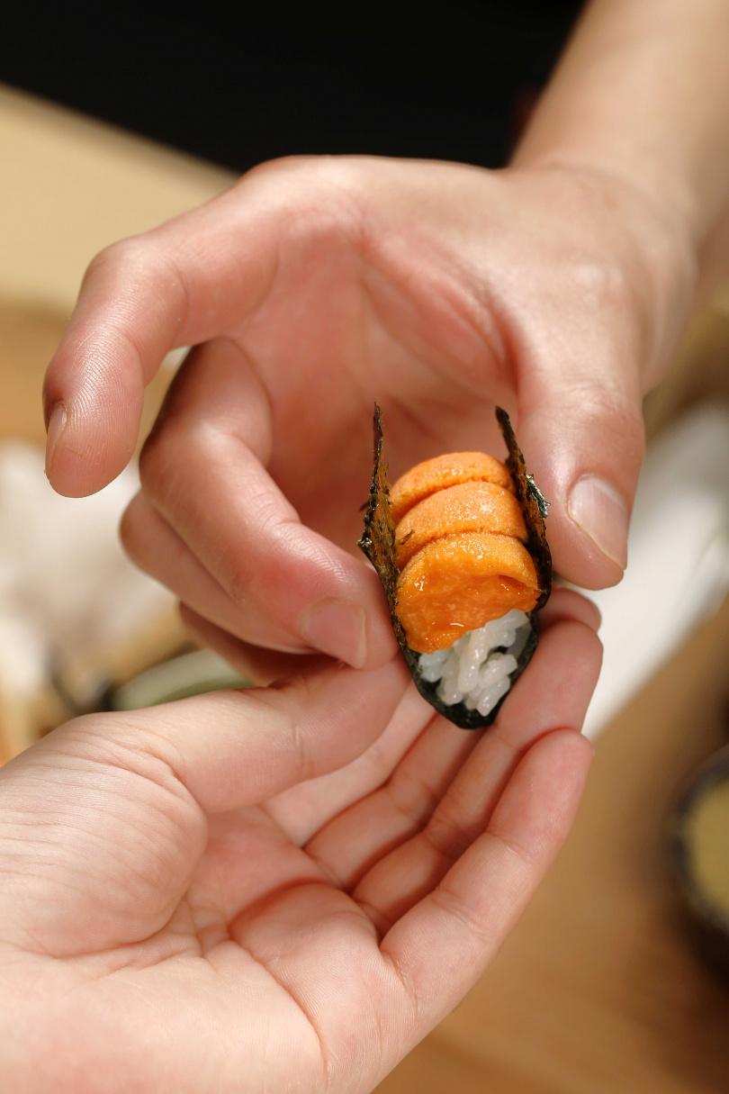 海膽握壽司的甘潤鮮美、綿密細滑,是許多老饕鍾愛的滋味。