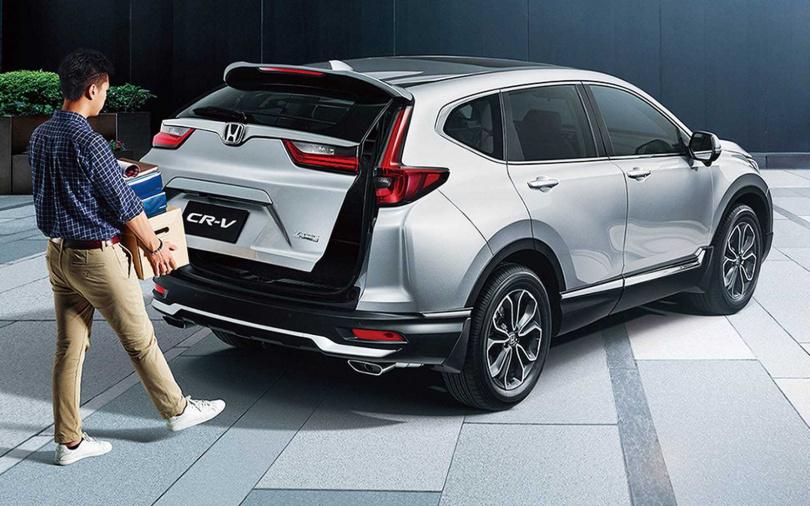 頂級車型新增感應式電動尾門,方便上下貨物。(圖/台灣本田提供)