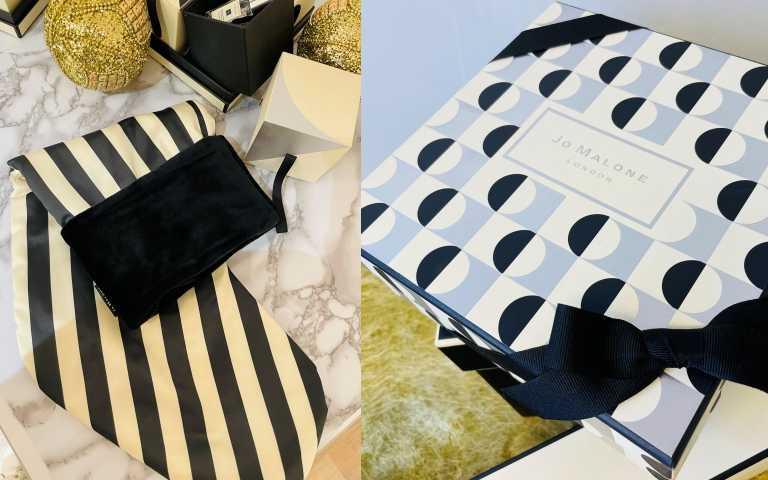 聖誕襪袋和幾何禮盒任選,幫你的聖誕禮物好好包裝一番。(圖/黃筱婷攝影)
