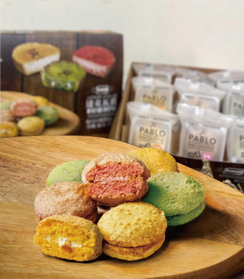 外層餅乾經過烘烤酥酥脆脆的達克瓦茲,三種口味各具特色。