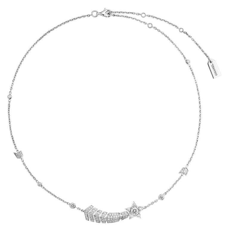 CHANEL「The Icons of 1932」系列高級珠寶,Comète 18K白金鑽石項鍊╱923,000元。(圖╱CHANEL提供)