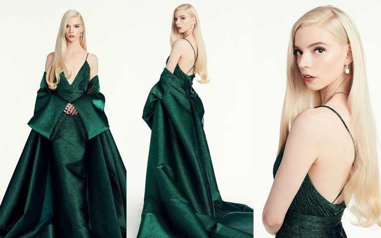 美麗的服裝跟完美妝容的最佳組合。(圖/翻攝Anya TAYLOR-JOY IG)