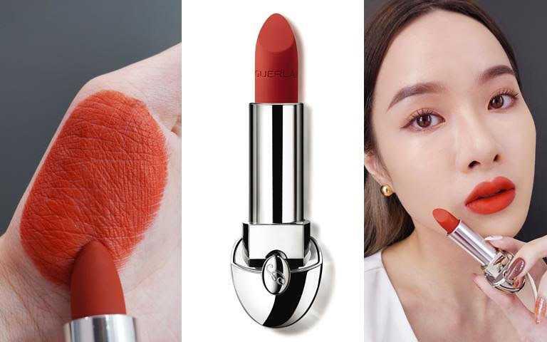 色號#N555法式都會紅帶點橘感,比起正紅色多了一點低調時髦氣息,很適合初次嘗試紅色系唇膏的人。(圖/品牌提供)