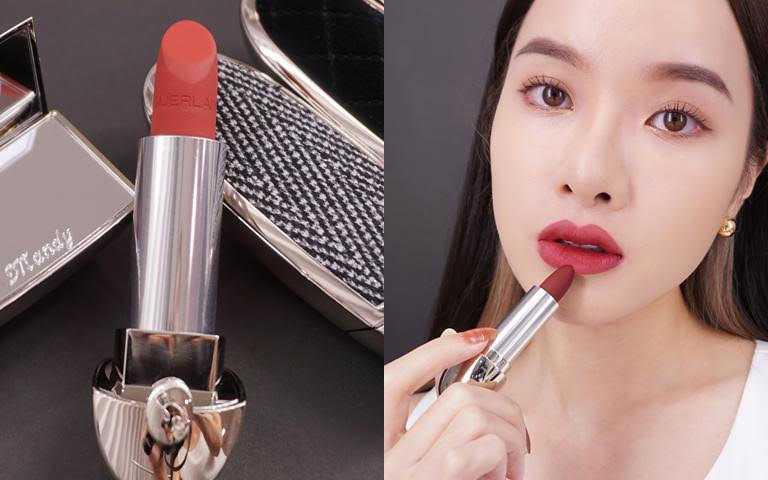 嬌蘭紅寶之吻高訂紅絲絨唇膏/1160元  可以描繪出美麗唇形&飽滿唇色。(圖/品牌提供)