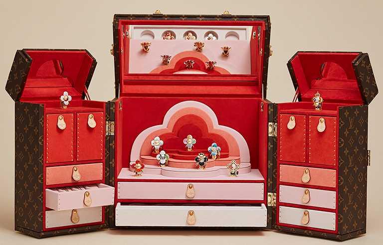 LOUIS VUITTON「Vivienne Travellers」系列專用珠寶盒╱價格店洽。(圖╱LOUIS VUITTON提供)
