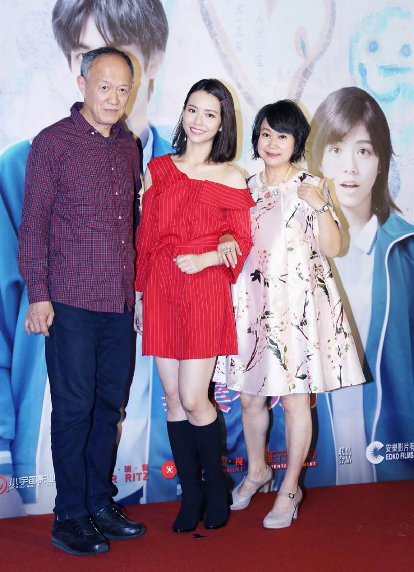 王月和宋芸樺在電影《我的青春都是你》飾演母女針鋒相對,金士傑則扮演宋芸樺的教授。(攝影/毛唯維)