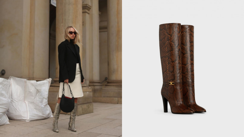 CELINE蛇皮Claude皮靴/115,000元 (圖/翻攝自IG、品牌提供)