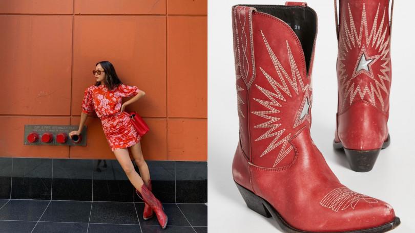 Golden Goose Wish Star Cowboy Boots西部靴/約30,115元(圖/翻攝自IG、品牌提供)