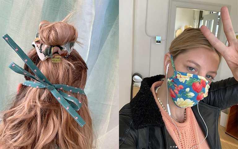 後綁帶的設計就像外科醫生的口罩,長時間用耳後也不會刺痛。(圖/roomshopvintage IG)